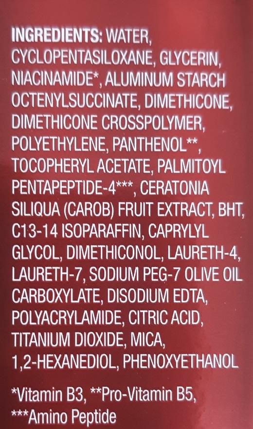 ingredients standard skin care